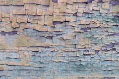 Texture, background, old wood coating with old paint. Texture, background, old wood coating with old blue paint covered with cracks stock photo