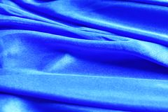 Disastrously of blue fabric texture for background stock image