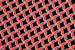 Texture, background, pattern. Fabric drawing of a diamond diamond red on a black background stock image