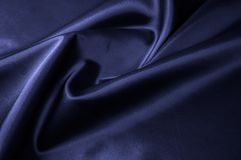 Texture, background, pattern. Fabric silk color cobalt, smalt, b. Lue royal Royalty Free Stock Photography