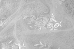 Texture, background, pattern. Lacy white fabric. Flowers made of. Lace fabric. White background. greeting card. Wallpaper for your desktop. Screensaver backdrop royalty free stock photo