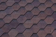Texture, background, pattern. roofing tiles. flexible, soft, bituminous, composite Stock Photo