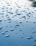 Texture background. raindrops on paintwork. Precipitation in the Royalty Free Stock Photo