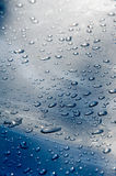 Texture background. raindrops on paintwork. Precipitation in the Stock Photography