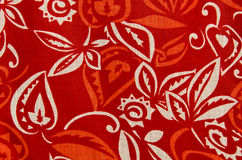Texture background of red fabric textile Stock Images