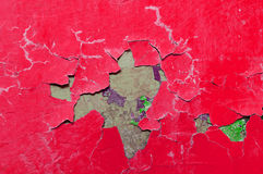 Texture background of red and green peeling paint on the old rough texture surface Royalty Free Stock Images