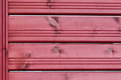 Texture, background, red wooden slats. Fence Stock Image