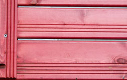 Texture, background, red wooden slats. Fence Stock Photo