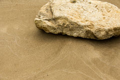 Texture, background. the sand on the beach. loose granular subst Stock Image