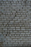 Texture, background wall light brick with a large crack Royalty Free Stock Photography