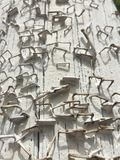 Texture background white paint peeling grunge telephone pole rusty staples Royalty Free Stock Photo