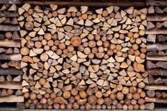 Texture background of woodstack. Texture background of wood logs in stack Stock Images