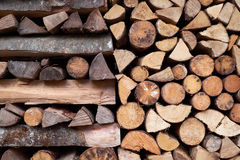 Texture background of woodstack. Texture background of wood logs in stack Stock Photography