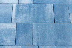 Texture of a backyard pavement - concrete or cobble gray differe Royalty Free Stock Image