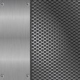 Texture balayée par métal avec la perforation Photo stock