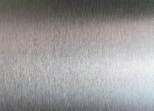 Texture balayée en métal Photographie stock