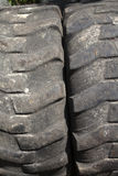 Texture of Bald Truck Tire Close-up stock images