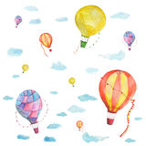 Texture balloons. In the sky with clouds. There are so many Stock Images