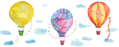 Texture balloons. In the sky with clouds. There are so many Stock Image