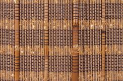 Texture a bamboo with fabric weaving. Cloth Royalty Free Stock Photo