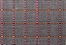 Texture a bamboo with fabric weaving. Cloth Stock Images