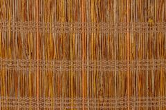 Texture a bamboo with fabric weaving. Cloth Royalty Free Stock Image