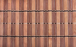Texture of bamboo mat Royalty Free Stock Images