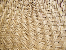 Texture of bamboo weave curve Stock Photos