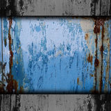 Texture band blue background metal rust rusty Royalty Free Stock Image