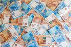 The texture of the banknotes, the background of money stock photography