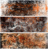 Texture Banners. Vintage Grungy Abstract Background Set Royalty Free Stock Photography