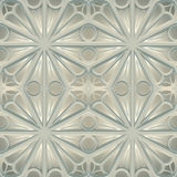 Texture based on sacred geometry. Vintage Seamless 3d texture based on sacred geometry. The pattern of the elements of a Gothic church: circles, crosses Royalty Free Stock Photography