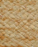 Texture of a basket woven from grass cord. Closeup of the texture of a basket woven from grass cord stock image
