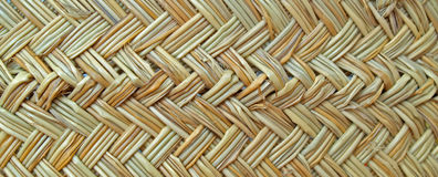 Texture of a basket woven from grass cord. Closeup of the texture of a basket woven from grass cord stock images