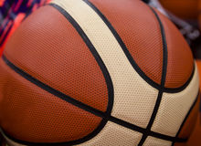 The texture of a basketball Stock Images