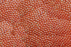 Texture of a basketball ball. Texture of the leather basketball Spalding designed for basketball Royalty Free Stock Photography