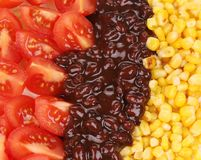 Texture of beans salad. Macro. Royalty Free Stock Images