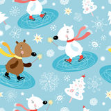 Texture bears in winter royalty free illustration