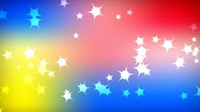 Texture of the beautiful festive polygonal cosmic magical colorful multicolored distant bright motley galactic stars and copy spac. E. The background stock illustration