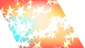 Texture of a beautiful festive polygonal cut-off cosmic magical multi-colored colored far-away bright motley galactic stars and co. Py space on a white stock illustration
