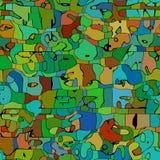 Texture beautiful mosaic royalty free illustration