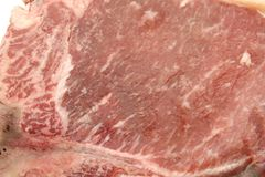 Texture of Beef T-Bone Royalty Free Stock Image