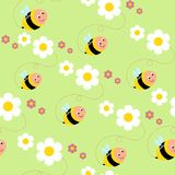 Texture, bees and flowers stock image