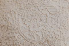 Texture beige de tapisserie d'ameublement de dentelle photo stock
