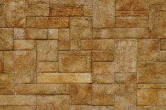 Texture of beige stone wall Royalty Free Stock Photography