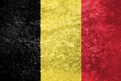 Texture of Belgium flag. On a marble tile stock photo