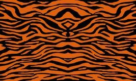 Texture of bengal tiger fur, orange stripes pattern. Animal skin print. Safari background. Vector royalty free illustration
