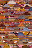 Texture of berber traditional wool carpet, Morocco, Africa. Traditional berber carpet royalty free stock photos