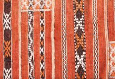 Texture of berber traditional wool carpet, Morocco, Africa. Texture of berber traditional wool carpet with geometric pattern, Morocco, Africa royalty free stock images