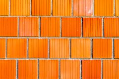 Texture of big red brick, wall background. Design element. Or backdrop royalty free stock images